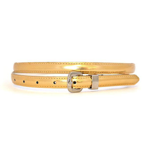 CARRIE - Womens Gold Genuine Leather Belt