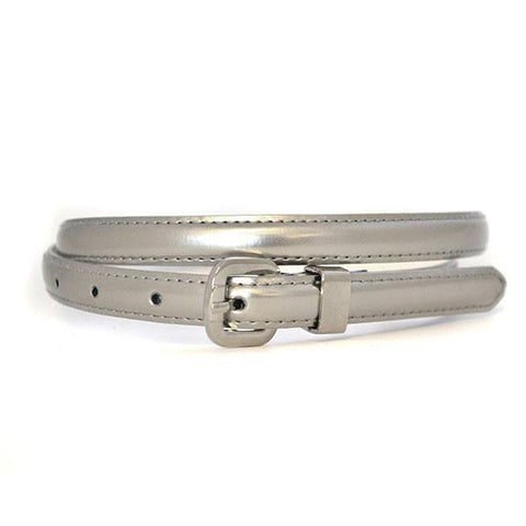 CARRIE - Womens Silver Genuine Leather Belt