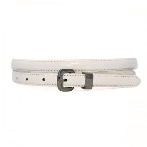CARRIE - Womens White Genuine Leather Belt