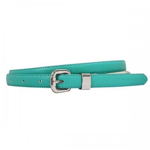 CARINA - Womens Turquoise Genuine Leather Belt with Silver Buckle  - Belt N Bags