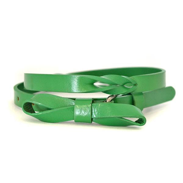 CLARISSA - Womens Green Genuine Leather Belt - CLEARANCE  - Belt N Bags