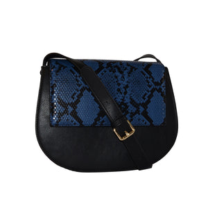 Cleo  - Womens Snakeskin Faux Leather Crossbody with Interchangeable Lids - CLEARANCE  - Belt N Bags