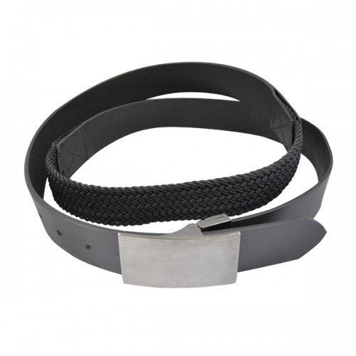 CLIVE - Mens Black Genuine Leather Flexi-Belt - Belt N Bags