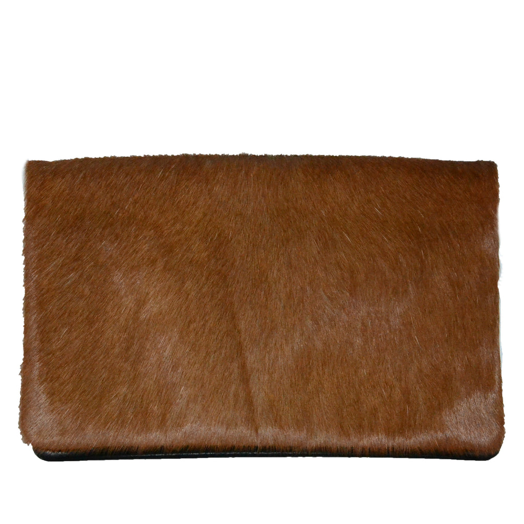 CREMORNE- Addison Road Soft Tan Calf Hair Pebbled Leather Wallet  - Belt N Bags