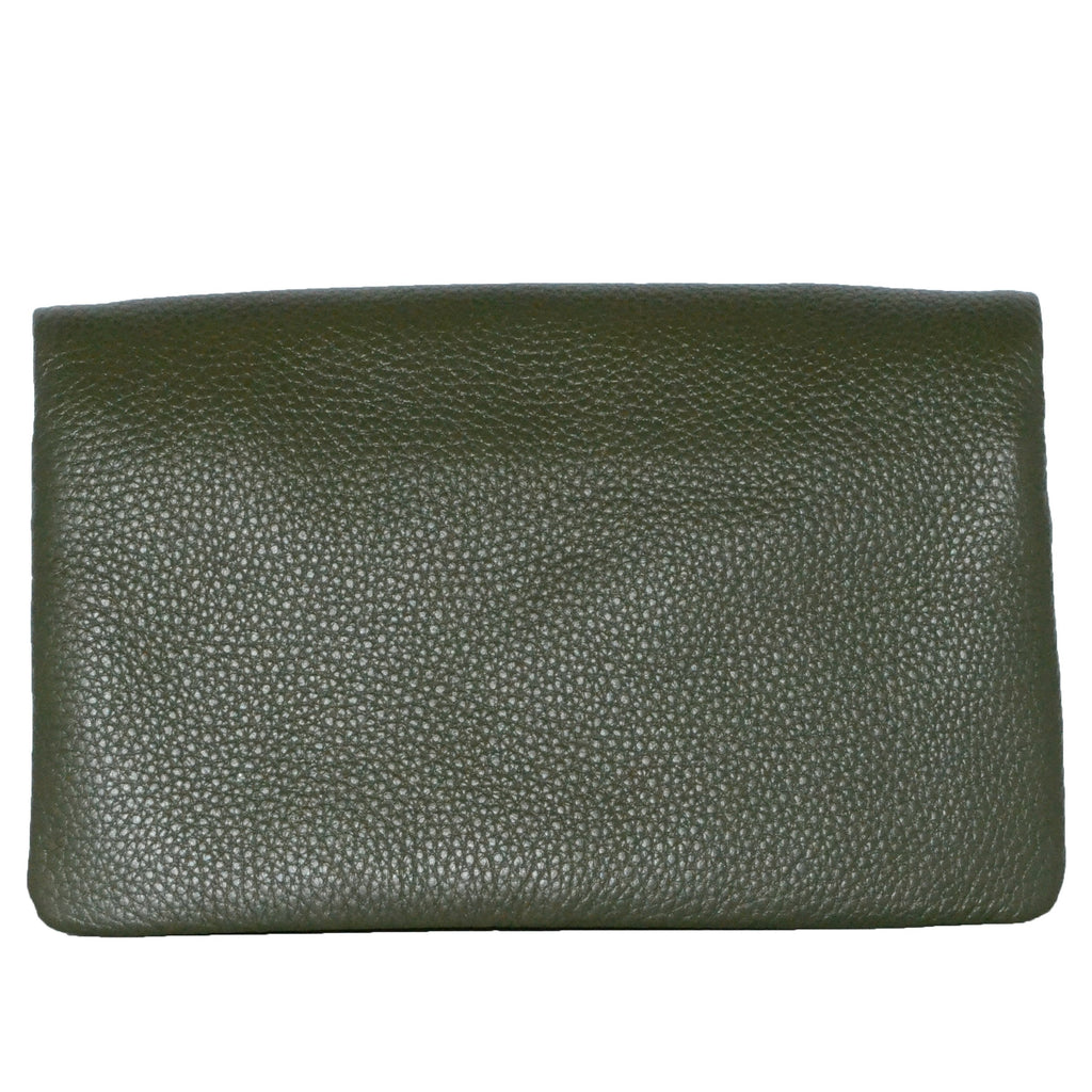 CREMORNE - Ladies Emerald Green Soft Pebbled Leather Fold Wallet  - Belt N Bags