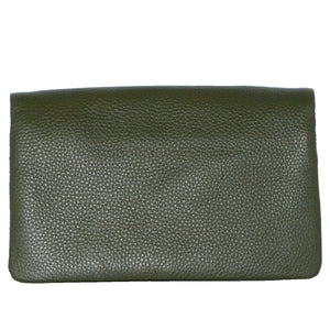 CREMORNE - Addison Road Emerald Soft Pebbled Leather Fold Wallet - BeltNBags