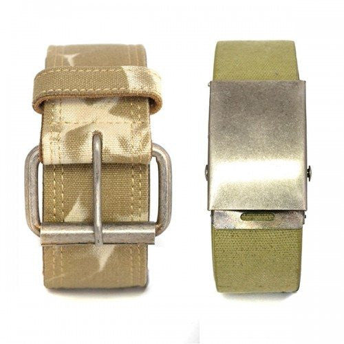 CHARLIE - Camo Military Army Style Twin Pack with two Webbing Belts - Belt N Bags