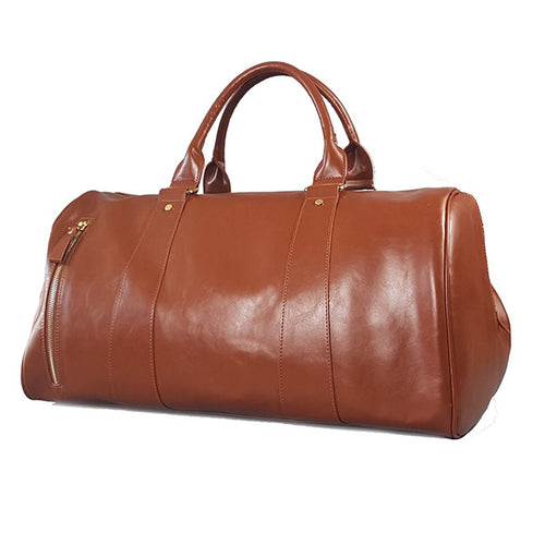 CANTERBURY - Tan Vegan Leather Overnight / Sports Bag-men's bag-BeltNBags-BeltNBags