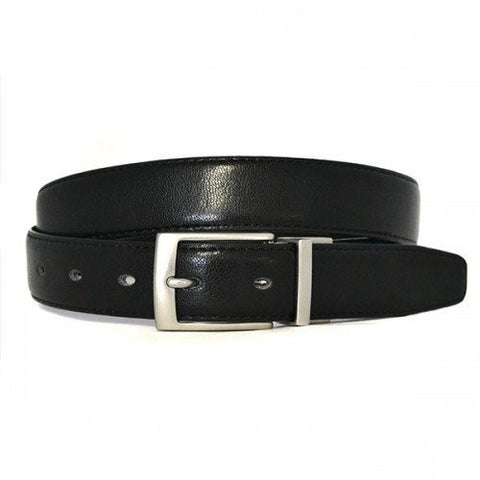 CARDIFF - Mens Black and Brown Reversible Leather Belt