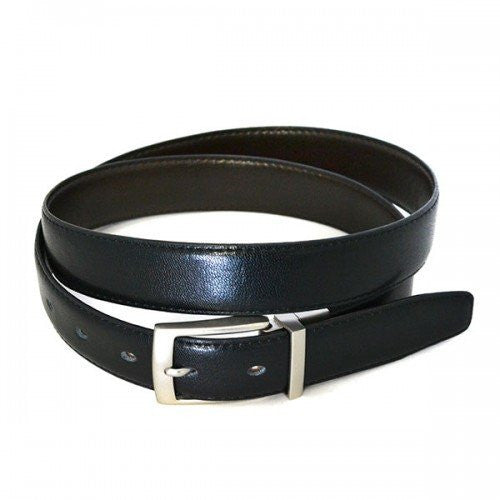 CARDIFF - Mens Black and Brown Reversible Leather Belt  - Belt N Bags