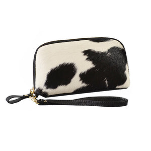 CARMICHAEL- Addison Road Natural Calf Hide Wrist Purse - BeltNBags