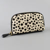 CARMICHAEL - Ladies Snow Leopard Leather Calf Hide Wristlet Wallet Purse  - Belt N Bags