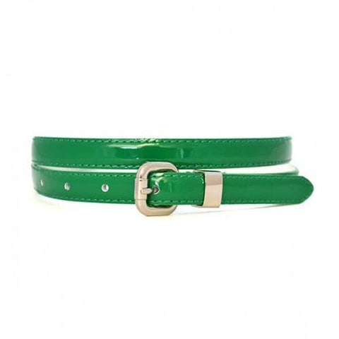 CARRIE - Womens Emerald Green Leather Belt