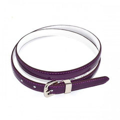 CARRIE - Womens Purple Genuine Leather Belt