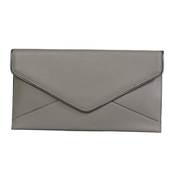 CASTLECRAG - Grey Genuine leather Clutch  - Belt N Bags