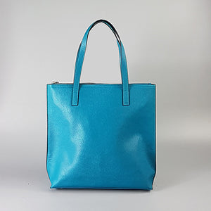CHERMSIDE  - Peacock Structured Saffiano Shopper  - Belt N Bags