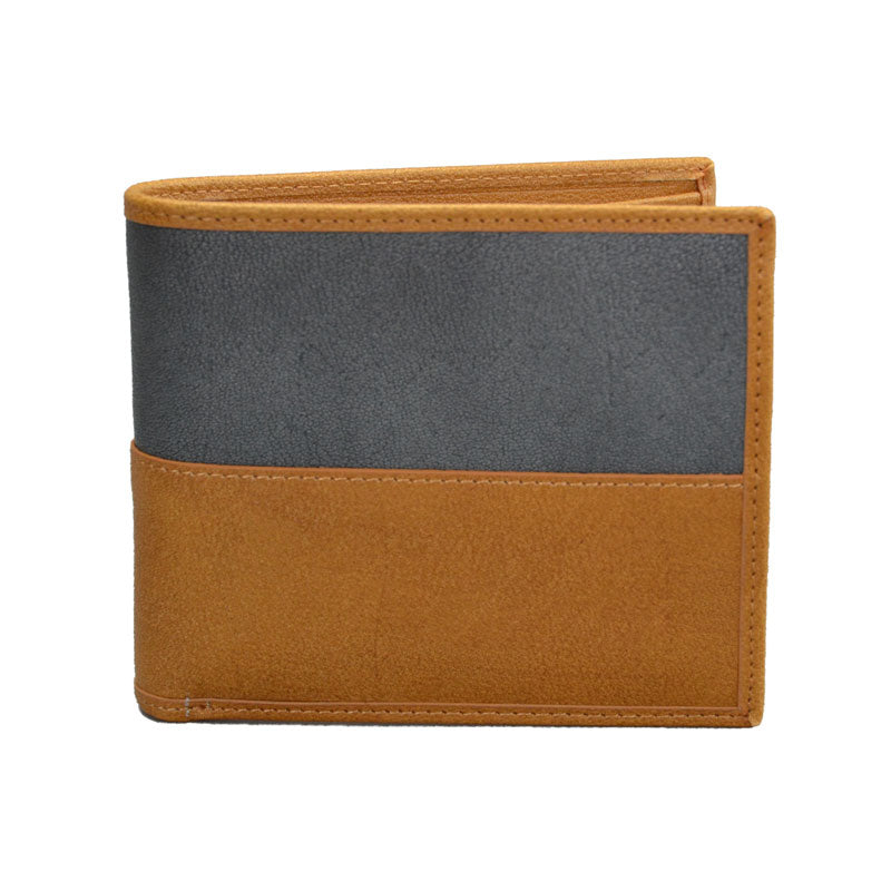 COLT - Mr Selby Mens Tan and Grey Genuine Leather Wallet in Gift Box  - Belt N Bags