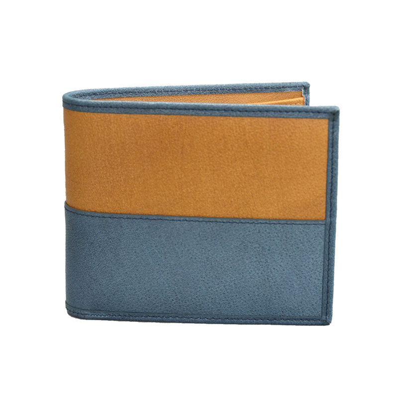 COLT - Mr Selby Mens Grey Tan Genuine Leather Wallet in Gift Box  - Belt N Bags