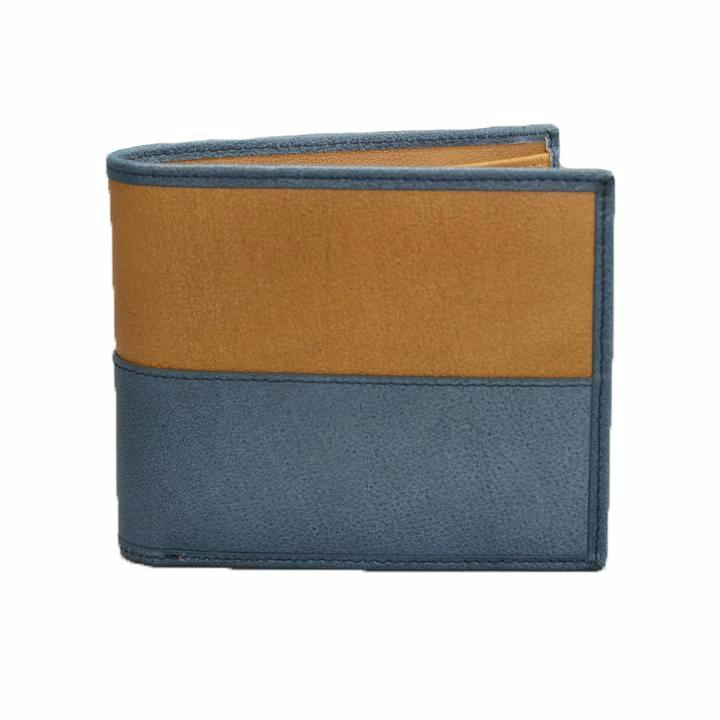 COLT - Mens Brown and Teal Leather Wallet in Gift Box - BeltNBags