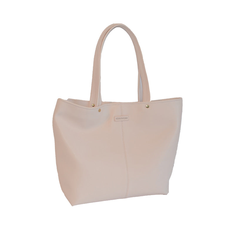 CORAL BAY-  Blush Soft Leather Shopper Tote Bag  - Belt N Bags