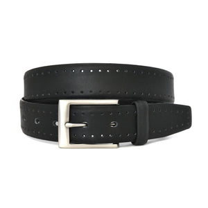 CREWE - Mens Black Premium Leather Belt  - Belt N Bags