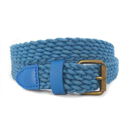 DANNY - Casual Blue Cotton Webbing Belt  - Belt N Bags