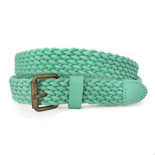 DANNY - Casual Mint Cotton Webbing Belt - BeltNBags