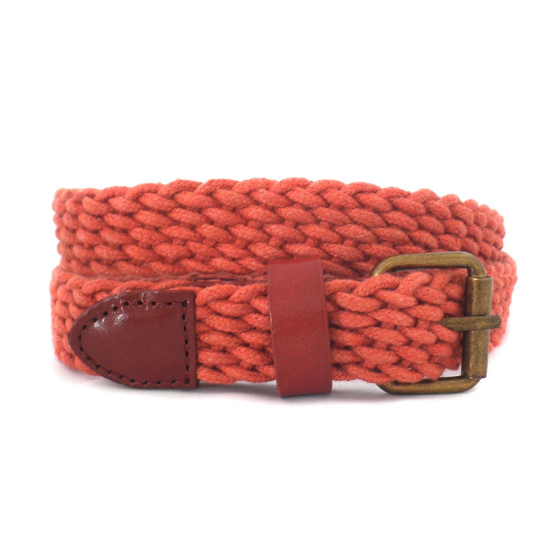 DANNY - Casual Rust Cotton Webbing Belt - Belt N Bags