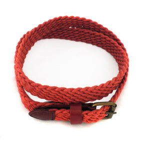 DANNY - Casual Rust Cotton Webbing Belt - BeltNBags