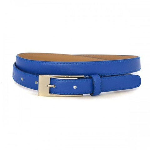 DEANEEN - Womens Blue Genuine Leather Belt