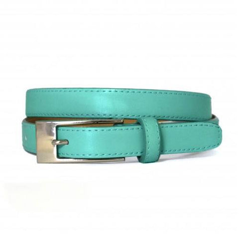 DEANEEN - Womens Mint Green Genuine Leather Belt