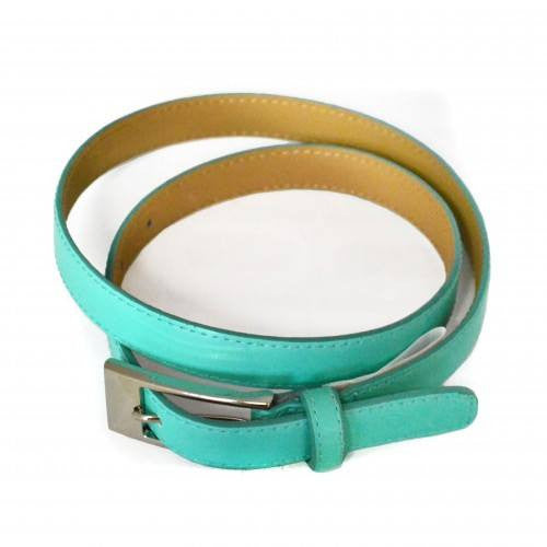 DEANEEN - Womens Mint Green Genuine Leather Belt  - Belt N Bags