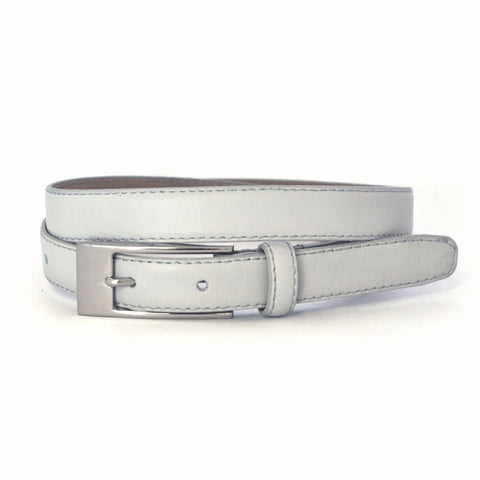 DEANEEN - Womens Grey Genuine Leather Belt
