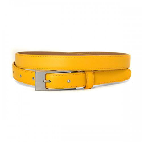 DEANEEN - Womens Yellow Genuine Leather Belt