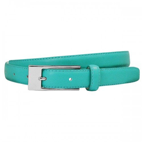 DEANEEN - Womens Turquoise Genuine Leather Belt - BeltNBags