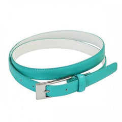 DEANEEN - Womens Turquoise Genuine Leather Belt