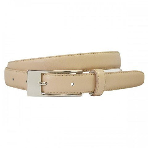 DEANEEN - Womens Latte Genuine Leather Belt