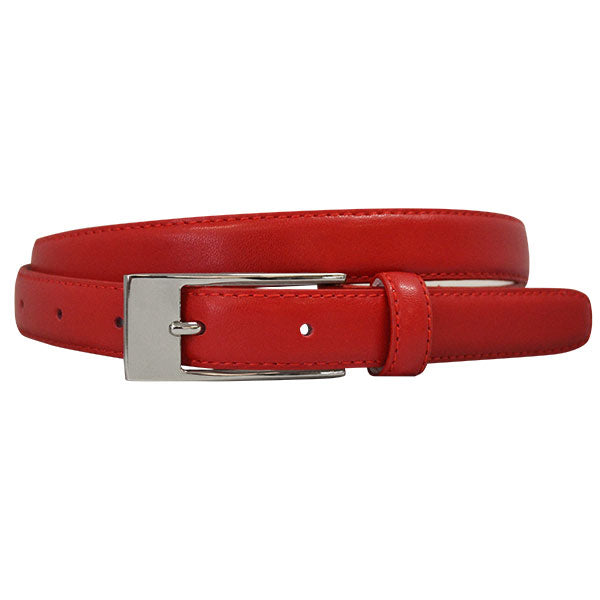 DEANEEN - Womens Red Genuine Leather Belt  - Belt N Bags