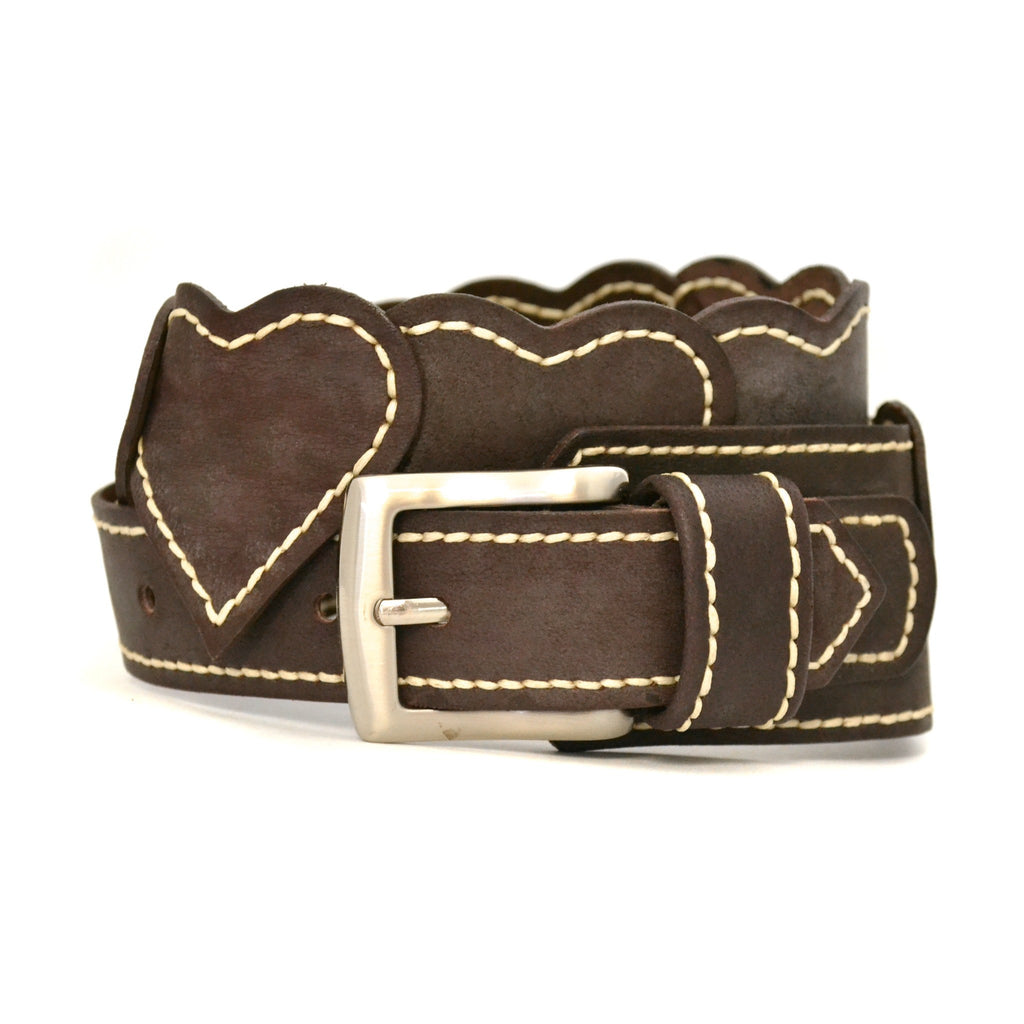 DIANA - Womens Chocolate Leather Belt