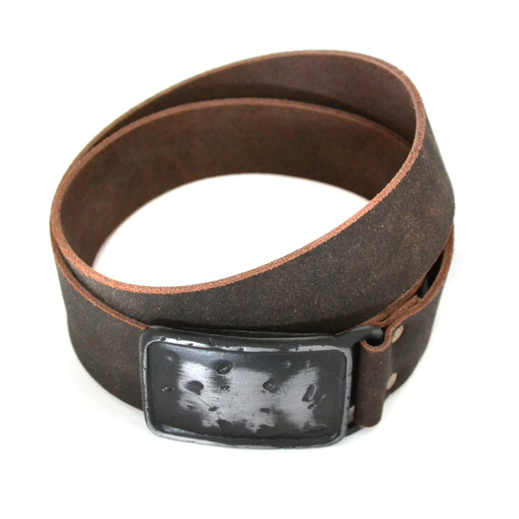 DIEGO - Mens Dark Brown Leather Belt - Belt N Bags