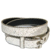 ADELAIDE - Girls Pink and White Glittery Belt Twin Pack  - Belt N Bags