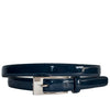 LACEY - Women's Navy Genuine Leather Patent Belt  - Belt N Bags
