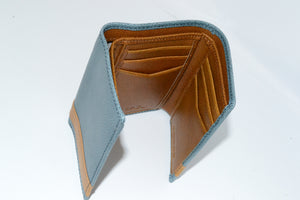 JUSTIN - Teal and Tan Genuine Leather Wallet  - Belt N Bags