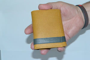 JUSTIN - Tan and Teal Genuine Leather Wallet - BeltNBags