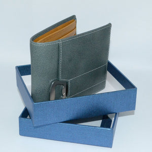 Tiger - Mens Teal Blue Genuine Leather Wallet with Bottle Opener in Gift Box  - Belt N Bags