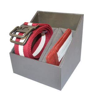 Mens Red Cotton Canvas Webbing Belt and Leather Wallet Gift Pack - BeltNBags