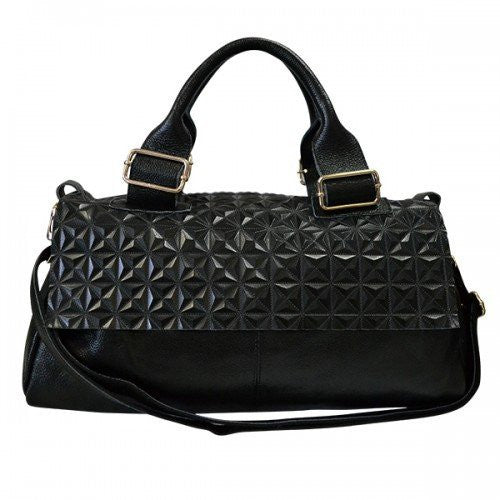 LEWISHAM - Womens Black Genuine Leather Bag  - Belt N Bags
