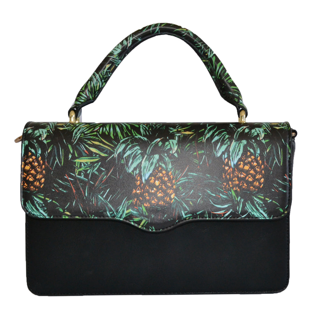 Billie  - Tropical Faux Leather Crossbody with Interchangeable Lids - CLEARANCE  - Belt N Bags