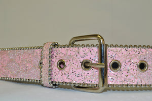 BETTY - Girls Pink Glittery Belt  - Belt N Bags