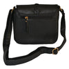 CAMELA - Black Faux Leather Saddle Bag - BeltNBags